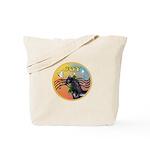 XmasMusic3/Horse (Ar-blk) Tote Bag