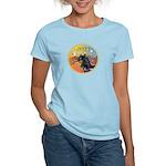 XmasMusic3/Horse (Ar-blk) Women's Light T-Shirt