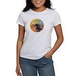 XmasMusic3/Horse (Ar-blk) Women's T-Shirt