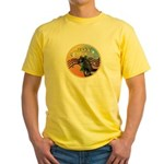 XmasMusic3/Horse (Ar-blk) Yellow T-Shirt
