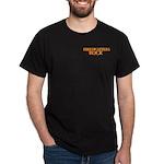 "'Firefighters Rock"" on pocket Black T-Shirt"