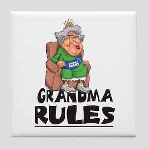 GRANDMA RULES  Tile Coaster