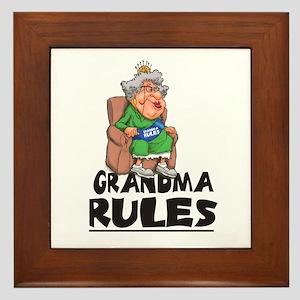 GRANDMA RULES  Framed Tile