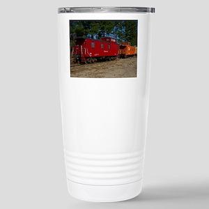 Red & Orange Caboose Stainless Steel Travel Mug