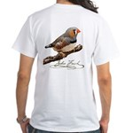 Zebra Finch T-Shirt - design back