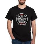 """Maltest White & Red"" Black T-Shirt"