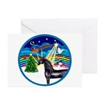 XmasMusic3/Horse (Ar-blk) Greeting Cards (Pk of 20