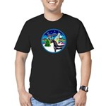 XmasMusic3/Horse (Ar-blk) Men's Fitted T-Shirt (da