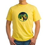 XmasMusic3/Horse (Ar-blk) Yellow T-Shirt