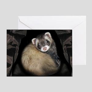 Full Cute Ferret Face Greeting Card