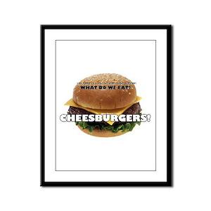Cheeseburger Framed Panel Print
