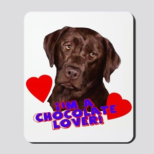 chocolate lover lab Mousepad