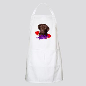 chocolate lover lab BBQ Apron