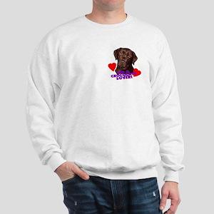 chocolate lover lab Sweatshirt