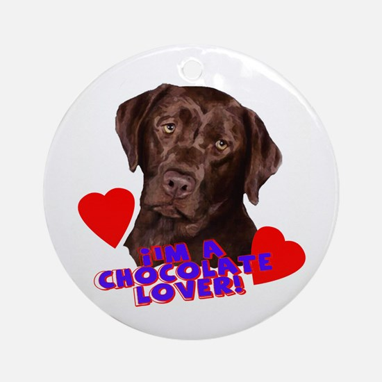 chocolate lover lab Ornament (Round)