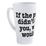 The Press (White) 17 oz Latte Mug