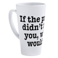 The Press (White) 17 oz Latte Mug