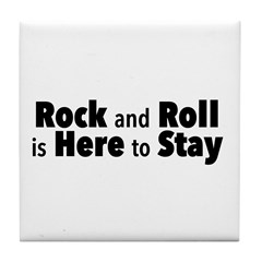 Rock and Roll I Tile Coaster