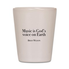 Music is God's Voice Shot Glass