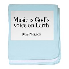 Music is God's Voice baby blanket