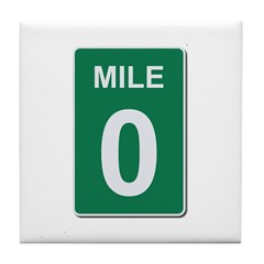 Mile Marker Zero Tile Coaster