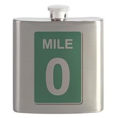 Mile Marker Zero Flask