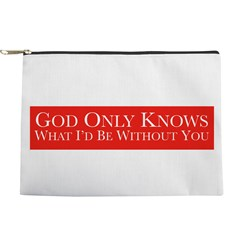 God Only Knows (Red) Makeup Bag
