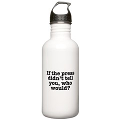 The Press (White) Water Bottle