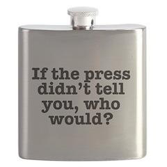 The Press (White) Flask