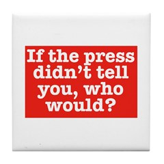 The Press (Red) Tile Coaster