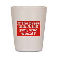 The Press (Red) Shot Glass