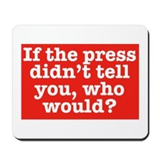 The Press (Red) Mousepad