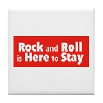 Rock and Roll II Tile Coaster