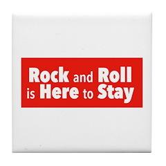 Rock and Roll II Tile Coaster