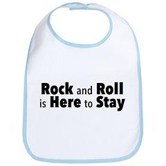 Rock and Roll I Baby Bib