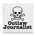 Outlaw Journalist Tile Coaster