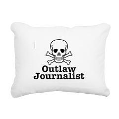 Outlaw Journalist Rectangular Canvas Pillow