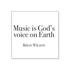 Music is God's Voice Sticker