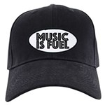 Music is Fuel Black Cap with Patch