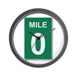 Mile Marker Zero Wall Clock