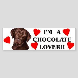 chocolate lab lover Bumper Sticker