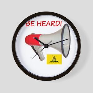 Be Heard! Wall Clock