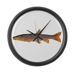 Sacramento pikeminnow Large Wall Clock