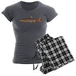 Sacramento pikeminnow Women's Charcoal Pajamas