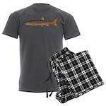 Sacramento pikeminnow Men's Charcoal Pajamas