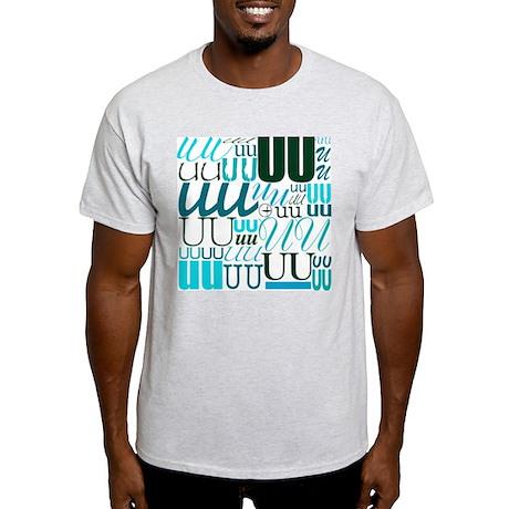 UU Typography (Aqua) Light T-Shirt