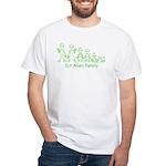 ILYAlienFamilyText White T-Shirt
