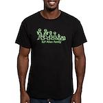 ILYAlienFamilyText Men's Fitted T-Shirt (dark)