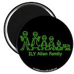ILYAlienFamilyText Magnet