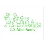ILYAlienFamilyText Small Poster